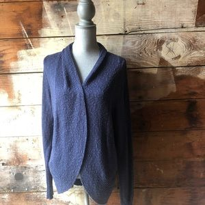 Kenneth Cole Size Large Navy Cardigan Sweater